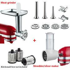 US Meat Food Grinder Slicer Shredder maker Attachment For KitchenAid Stand Mixer