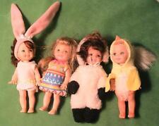 4 Barbie Kelly Easter Garden Dolls Lamb, Egg, Bunny, Chick