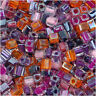 "Miyuki 4mm Cube Beads Mix Lot ""Melonberry"" 10 Grams"