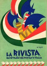 1924 FORTUNATO DEPERO ROVERETO ILLUSTRAZIONE TESTATA  ARTE GRAFICA FUTURISMO