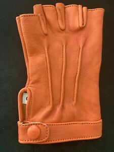Women's Pure Leather Half Finger Gloves | Driving Biking Cycling Performance