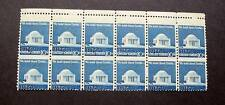 USA ERROR BETWEEN STAMPS PERFORATION ON 10c JEFFERSON  STAMPS BLOCK  12 MINT NH