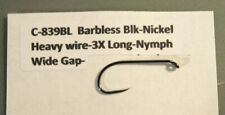 50- Streamer-Nymph Hooks>C-839Bl>5 Sizes available>Heavy wire>Barbless