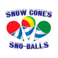 Snow Cones Sno Balls Concession Restaurant Food Truck Die Cut Vinyl Sticker