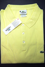 NWT Lacoste Men Regular Fit Lightweight Light Yellow Cotton Polo Shirt XL Eur 7