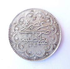 TURQUIE 10 kurush 1917 argent