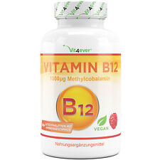 Vitamin B12 - 240 Tabletten mit 1000mcg - Methylcobalamin - 100% vegan B-12