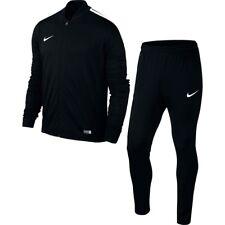Boys Nike Football Sports Full Tracksuit Kids Junior Zip Bottoms Top XL Age 13-15 Black