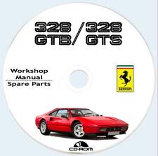 FERRARI  328 GTB/GTS workshop manual + spare parts,istruzioni riparazioni