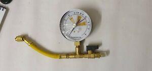 N015003 Oxygen free nitrogen hose with gauge 50 bar pressure gauge A/C