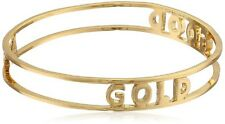 KATE SPADE 12K Gold Plated Good As Gold Bangle Bracelet WBRU8856 $78 NWT