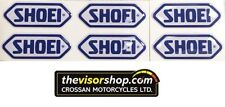 6 x Gel Type Non Fade Pair SHOEI Blue Motorcycle Helmet Visor sticker
