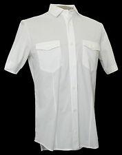 PRADA - Men's Military Style Stretch Cotton Shirt - Slim Fit - Size EU 38/US XS