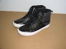 Vans Sk8-Hi MTE Leather Black+Gray,Leather Croc Men's Size 7.5,Ex Cond,Hi-Top