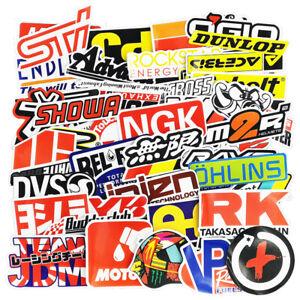50PCS JDM Sticker Pack Motorcycle Motocross Racing Car Dirt Bike Helmet Decals