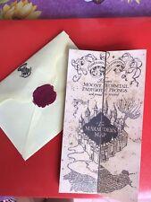 Mappa Del Malandrino + Lettera Hogwarts-Harry Potter