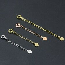 Curb Extended Link Chain 1 piece 10cm Solid 18K Yellow Gold Necklace