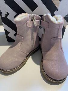 Baby Girl Pink Winter Sparkle Boots. Shoe.b.76z £89. Infant 4.5. Eu 21