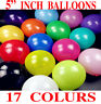 "5""inch Small Best Latex Balloons WITH 17 COLOURS Standard balloon Colour balloon"