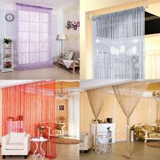 Door String Curtain Room Divider Panel Window Tassel Fringe Beads Decorative