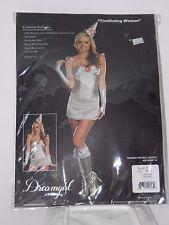 Size Medium Women's Silver Tin Women Oz-like Costume Cosplay Halloween Sexy