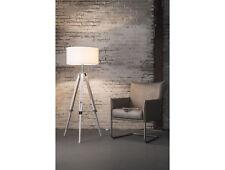Stehlampe LUPO Lampe höhenverstellbar Stativgestell Holzgestell Weiß Schirm Weiß