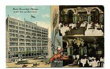 Vintage Postcard CHICAGO HOTEL KAISERHOF Ladies Cafe & Bauerstube lobster