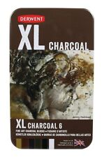 Derwent XL Tinted Charcoal Blocks 6 Colour Tin
