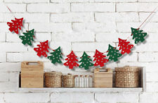 Christmas Xmas Tree Pendant Bunting Garland Banner Cute Wall Hanging Decoration