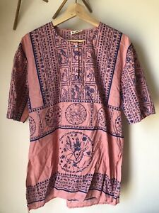 Acne Studios Pink Short Sleeve Blouse Size Small - Oversized