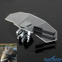 Motorcycle Clip-On Windshield Extension Airflow Deflector Wind Spoiler For Honda