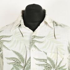 MARC EDWARDS Linen Rayon Hawaiian Shirt | Aloha Patterned Graphic Retro Vintage