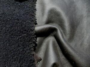 sheepskin shearling leather hide Supersilky Plush Hair Dark Brown w/smooth back