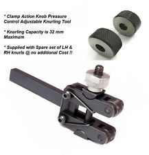 Spring Loaded Action Clamp Type Knurling Tool 3-25 mm Capacity for Lathes