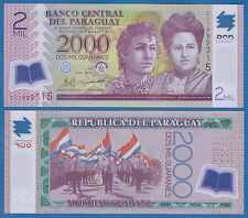 Paraguay 2000 Guaranies P 228c 2011 UNC Low Shipping Combine FREE Polymer 2 Mil