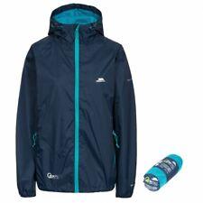 Trespass Qikpac Women Female SMALL S Jacket NAVY 5000mm Waterproof Coat w/ Pouch