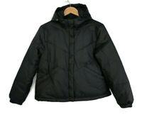 Madewell Chevron Packable Puffer Jacket Women's Size Small True Black $138