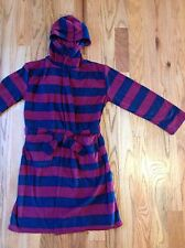 KOMAR KIDS boys plush robe with hood BLUE & RED ~ sz X-Small 5/6