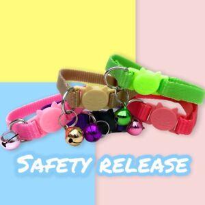 Safety Release Cat Collar Adjustable Breakaway With Bell Kitty Kitten Collar