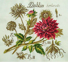 "LUXURY New Completed finished cross stitch""dahlia""home decor gift"