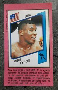 Mike Tyson Rookie  100% ORIGINAL RC in Album 1986 Panini Supersport
