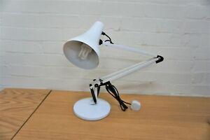 VINTAGE RETRO ANGLEPOISE MODEL 90  DESK LIGHT LAMP IN WHITE
