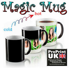 Personalised Heat Colour Changing Gift Magic Mug Image Photo Text Secret Santa