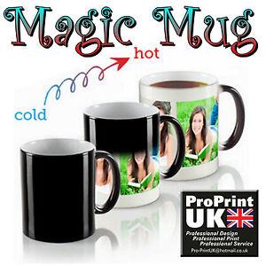 Personalised Heat Colour Changing Gift Magic Mug Image Photo Text Secret Santa