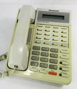 Panasonic KX-T7030 Proprietary Telephone Hybrid System Tested Works Faded White