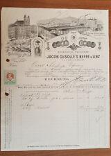 Alte Rechnung 1908 aus Linz, Jacob Cusolles Neffe, Cafe-Rösterei  (C45)