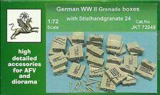 JKT 1/72 WWII German Grenade Boxes with Stielhandgranate 24