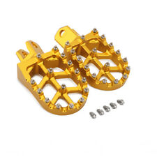 CNC Wide Foot Pegs Pedals Rests For Suzuki RM125 RM250 RMX250R RMX250S DRZ400E/S