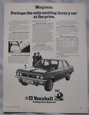 1974 Vauxhall Magnum Original advert No.2