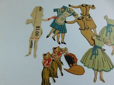 Standby Sue Ss vintage paper doll - cut from newspaper/ grocery ad -